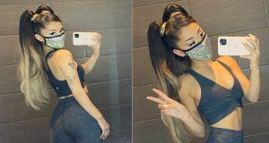 Ariana Grande Dazzles in Ombré Hair Extensions