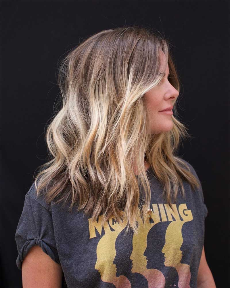 Bright Blonde Ombre Hair