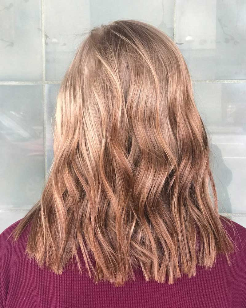 Dark to Caramel Brown Ombre