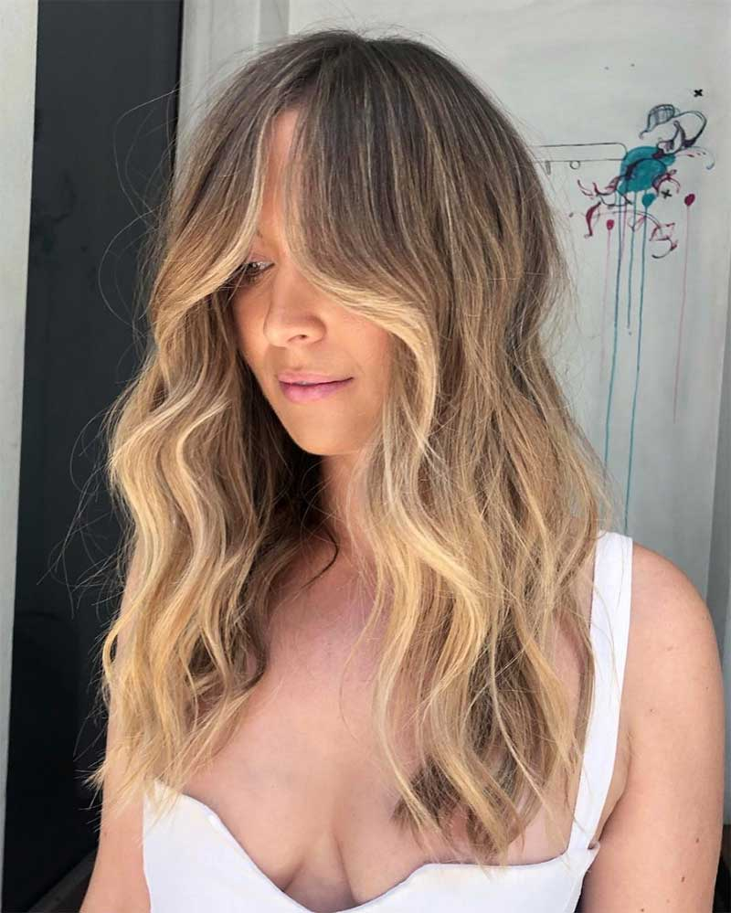 Face Framing Blonde Ombre