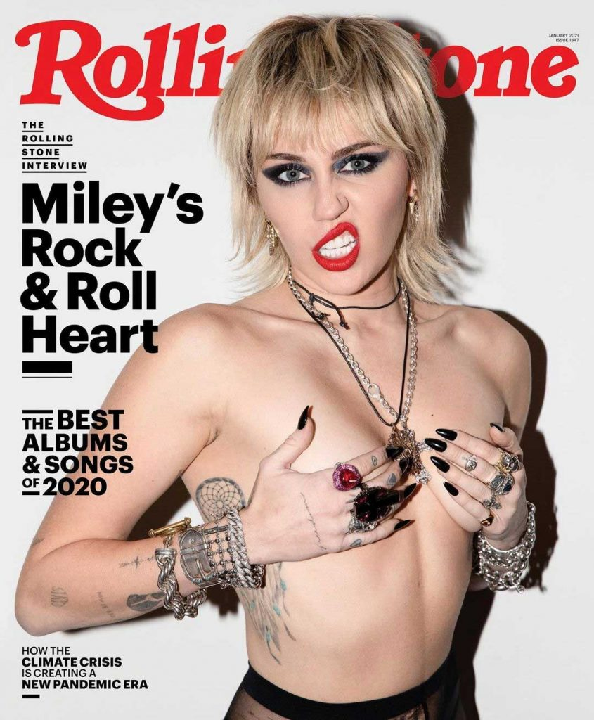 Miley Cyrus Goes Topless