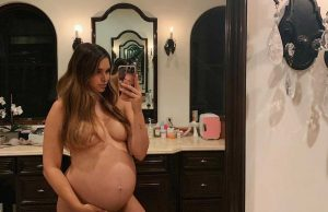Pregnant April Love Geary nude photo