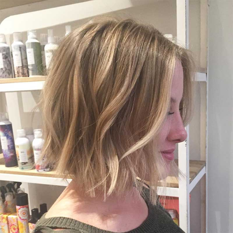 Choppy Dark Blonde Bob Hairstyle