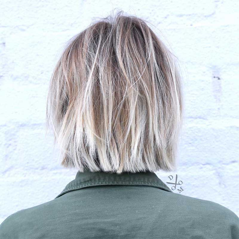 Choppy Straight Cut Bob Hairstyle
