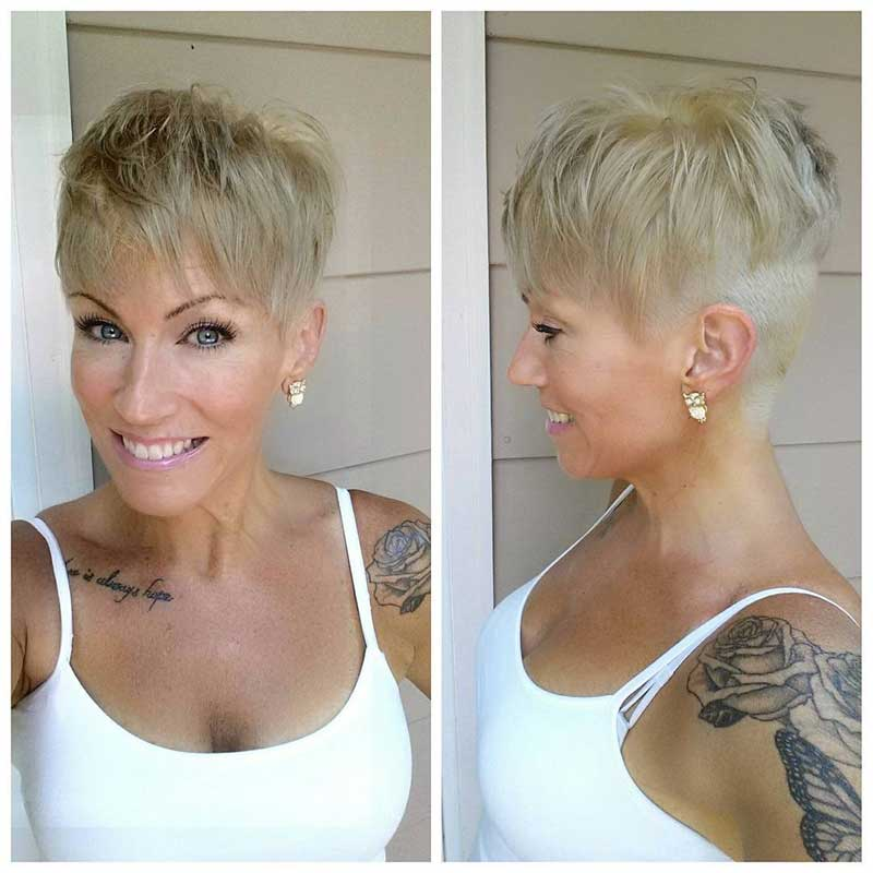 Edgy Short Blonde Hairstyle