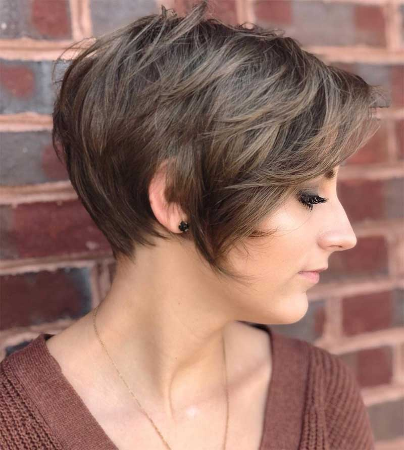 Long Pixie Haircut with Layers