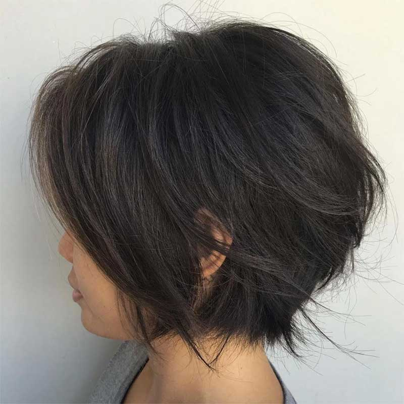 Short Jagged Bob Hairstyle