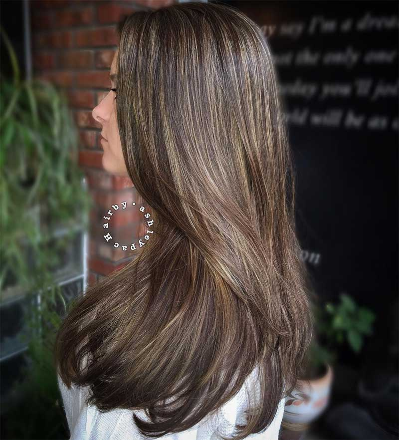 Curled Ends Blonde Hairstyle with Highlights