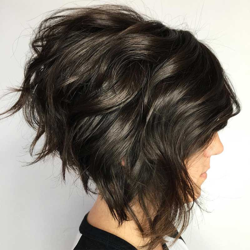 Stacked Hairstyle with a Bump