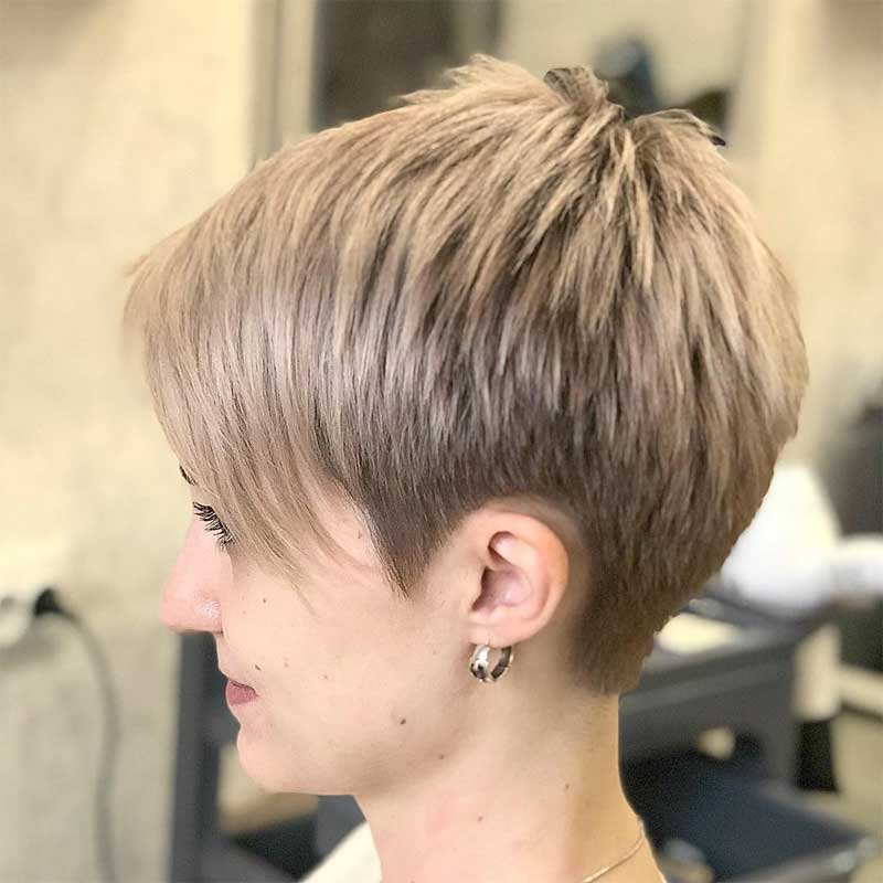 Straight Neat Tapered Pixie Haircut