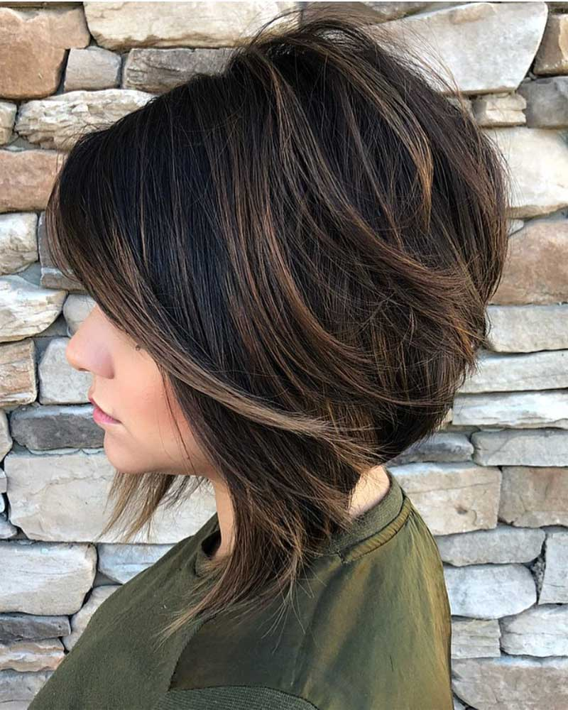 Swoopy Layers Bob Haircut