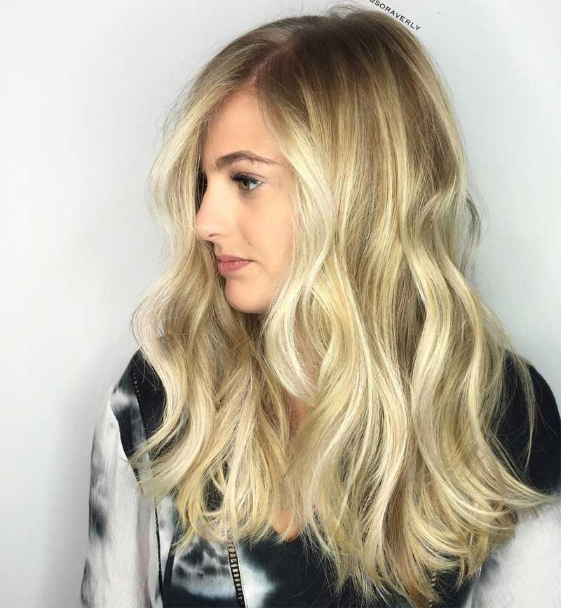 Textured Ends Hairstyle with Highlights
